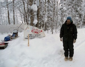 The Gang's Campground in Dawson City.  Looks like Dave has gotten a little rest!