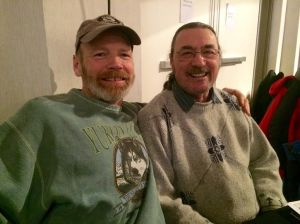 Dave and Brian Kitchen, Whitehorse Hosts.