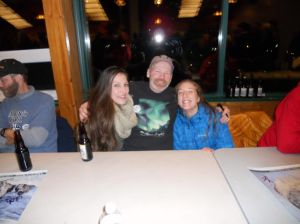 Two of Dave's long-time Whitehorse hosts.   Marika and Marguarite visited the gang on the Norris Glacier Last summer!